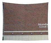 Michigan State University Skandalaris Football Center Signage Tapestry