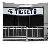 Michigan State University Tickets Booth Sc Signage Tapestry