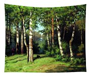Midday Warmth In A Forest Impressionism Tapestry