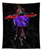 Midnight Bloom Tapestry