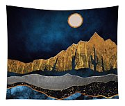 Midnight Desert Moon Tapestry