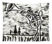 Midnight Horn Tapestry