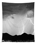 Midnight Hour Black And White Tapestry