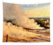 Midway Geyser Basin Steamy Sunrise Tapestry