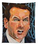 Mike Krzyzewski Aka Coach K Portrait Tapestry