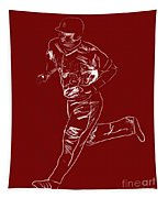 Mike Trout Home Run Trot Tapestry