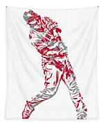 Mike Trout Los Angeles Angels Pixel Art 20 Tapestry