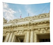 Milan Italy Train Station Facade Tapestry