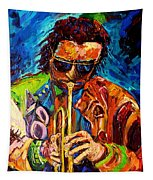Miles Davis Hot Jazz Portraits By Carole Spandau Tapestry