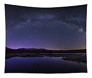 Milky Way Over Lonesome Lake Tapestry