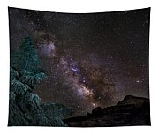 Milkyway At The Mountains Tapestry