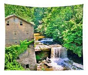 Mill Creek Park Lanterman's Mill And Covered Bridge Tapestry