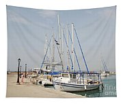 Milos Harbour On Agistri Tapestry
