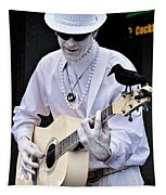Mime And Guitar Tapestry