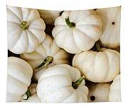 Mini White Pumpkins Tapestry
