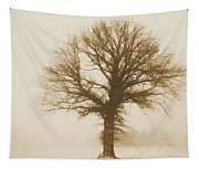 Minimal Winter Tree Tapestry