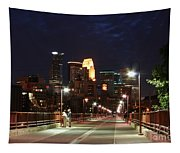 Minneapolis From The Stone Arch Bridge Tapestry