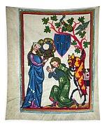 Minnesinger, 14th Century Tapestry