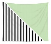 Mint And Black Geometric Tapestry