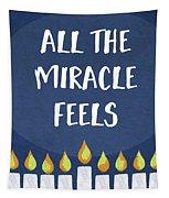 Miracle Feels- Hanukkah Art By Linda Woods Tapestry