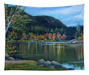 Mirror Lake In Woodstock New Hampshire Tapestry