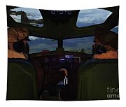 Mission Over Germany - Oil Tapestry