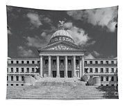 Mississippi State Capitol Bw Tapestry