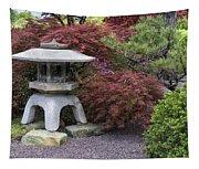 Missouri Botanical Garden A Japanese Snow Viewing Lantern Spring Time Dsc01783 Tapestry