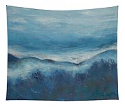 Misty Morning Fog Mount Mansfield Panorama Painting Tapestry