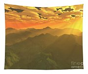 Misty Mornings In Neverland Tapestry