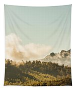 Misty Mountain Peaks Tapestry