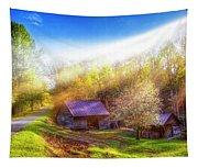 Misty Spring Morning Tapestry