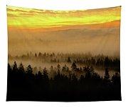 Misty Sunrise Tapestry