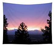 Misty Sunset Tapestry