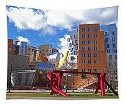 Mit Stata Center Cambridge Ma Kendall Square M.i.t. Sculpture Tapestry