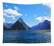 Mitre Peak In Milford Sound New Zealand Tapestry
