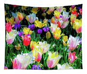 Mixed Tulips In Bloom  Tapestry