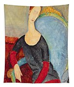 Mme Hebuterne In A Blue Chair Tapestry