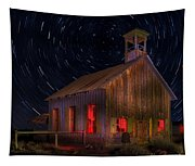Moab Schoolhouse Star Trails Tapestry