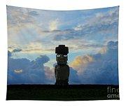 Moai Easter Island Rapa Nui Tapestry