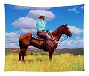 Modern Cowboy Tapestry