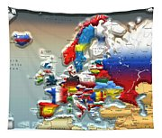 Modern Portrait Of Modern Europe - 3d Tapestry