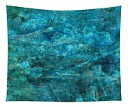 Modern Turquoise Art - Deep Mystery - Sharon Cummings Tapestry