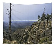 Mogollon Rim Under The Clouds Tapestry