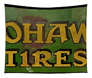 Mohawk Tires Antique Sign Tapestry
