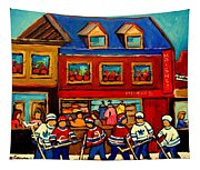 Moishes Steakhouse Hockey Practice Tapestry