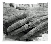 Mommas Hands Tapestry