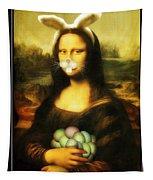 Mona Lisa Bunny Tapestry