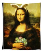 Mona Lisa Easter Bunny Tapestry