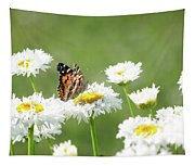 Monarch On Daisies Tapestry